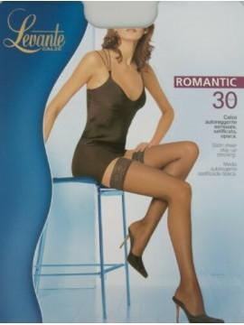Calza autoreggente calze donna 30 den 33 dtex setificata opaca balza pizzo LEVAN