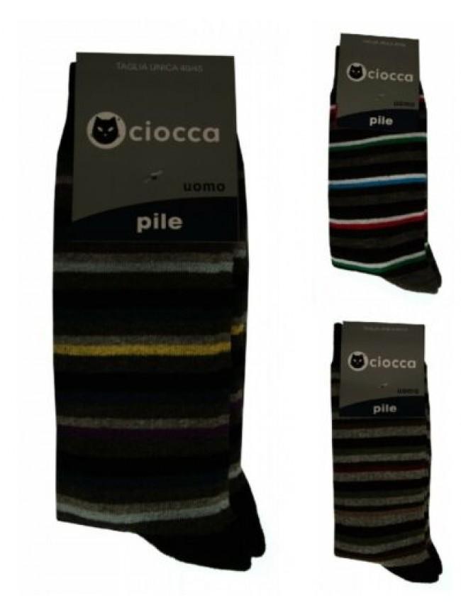 Calza calzino basso corto uomo calzini in caldo pile CIOCCA articolo 609/1 CALZI