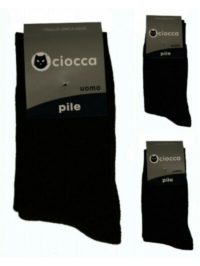 Calza calzino basso corto uomo calzini in caldo pile CIOCCA articolo 813/1 CALZI