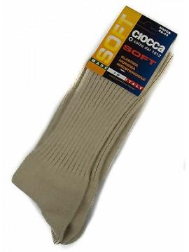 Calza calzino corto basso uomo sock CIOCCA art. 501/1 taglia 40-45 col. AVORIO
