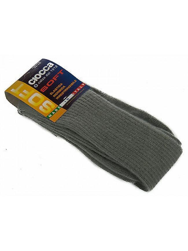 Calza calzino lungo alto uomo sock CIOCCA art. 501 taglia 40-45 col. PERLA