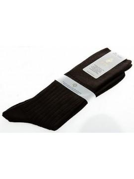 Calza corta calzino circolazione lana PUNTO relax 7/3 T.10,5/39-41 col.MARRONE