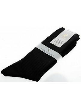 Calza corta calzino circolazione lana PUNTO relax 7/3 T.11/42 c.nero