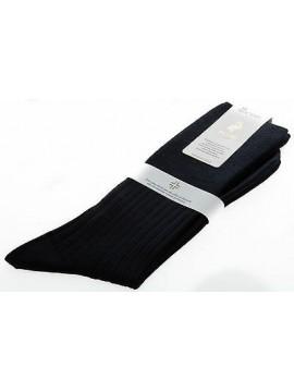 Calza corta calzino circolazione lana PUNTO relax 7/3 T.11,5/43 c.blu