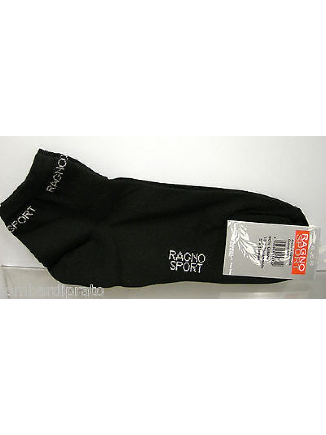 Calza corta calzino girocaviglia socks RAGNO a.09094G T.35-38 c.020 nero black