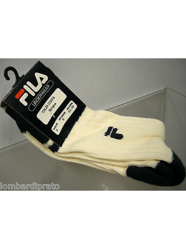 Calza corta calzino spugna unisex socks FILA art.55032 T.37-39 col.avorio ivory