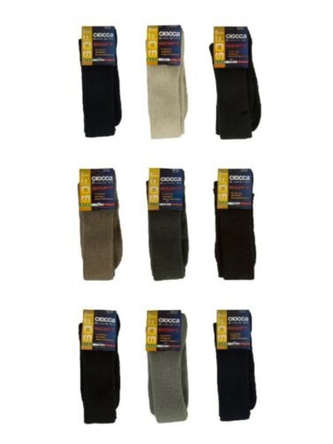 Calza lunga calzino alto orlon soft CIOCCA articolo 501 made in Italy