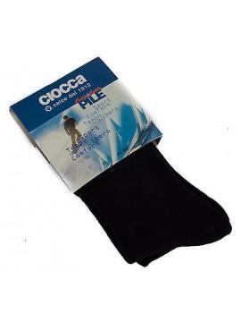 Calza lunga pile uomo calzini CIOCCA art. 512 taglia 35-39 colore BLU Italy