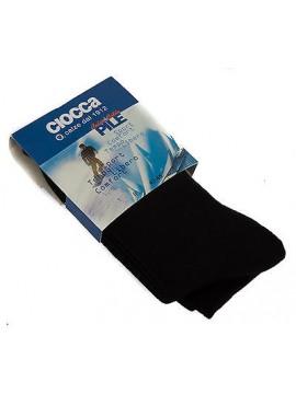 Calza lunga pile uomo calzini CIOCCA art. 512 taglia 40-45 colore NERO Italy