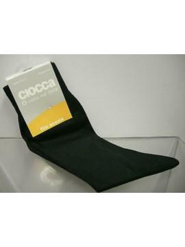 Calzino calza corta scozia uomo socks CIOCCA a.310-1 t.10/10,5 40/41 nero black