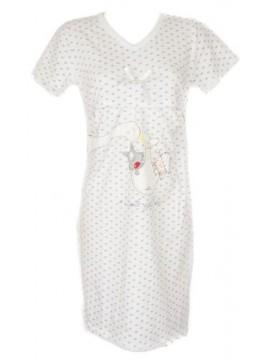 Camicia da notte donna cotome manica lunga scollo V per allattamento HAPPY PEOPL
