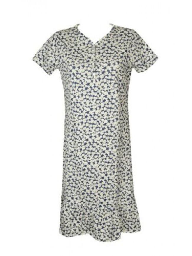 Camicia da notte donna cotone manica corta girocollo serafino RAGNO articolo D88