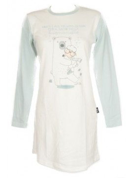 Camicia da notte donna interlock manica lunga girocollo HAPPY PEOPLE art.3466