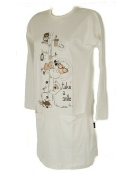 Camicia da notte donna interlock manica lunga girocollo HAPPY PEOPLE articolo 34