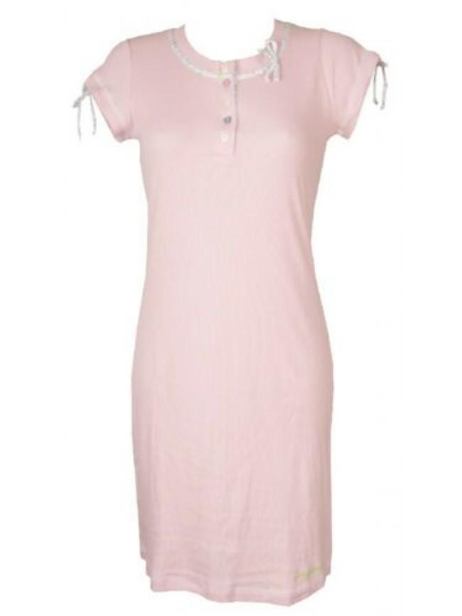 Camicia da notte donna manica corta collo serafino RAGNO articolo N70437
