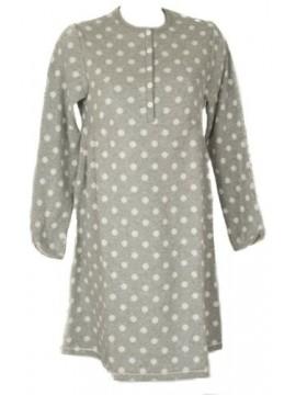 Camicia da notte donna pile manica lunga collo serafino RAGNO articolo N10697