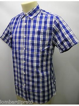 Camicia uomo cotone shirt camisa GUESS a.FA7U2D T.S col.U698 blu cosmo quadri