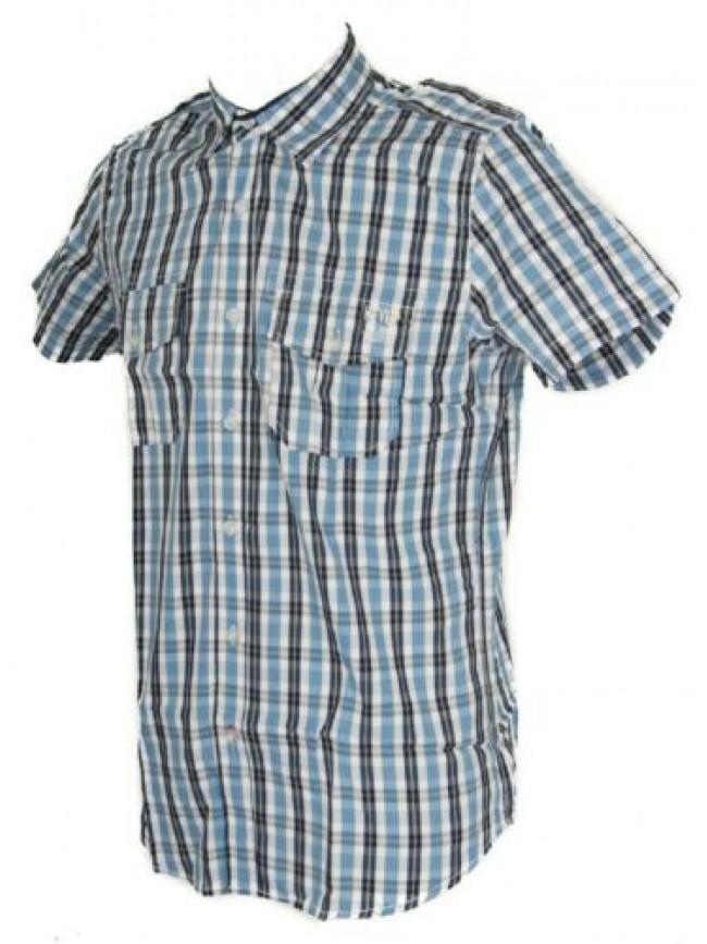 Camicia uomo manica corta cotone KEY-UP articolo 20C43