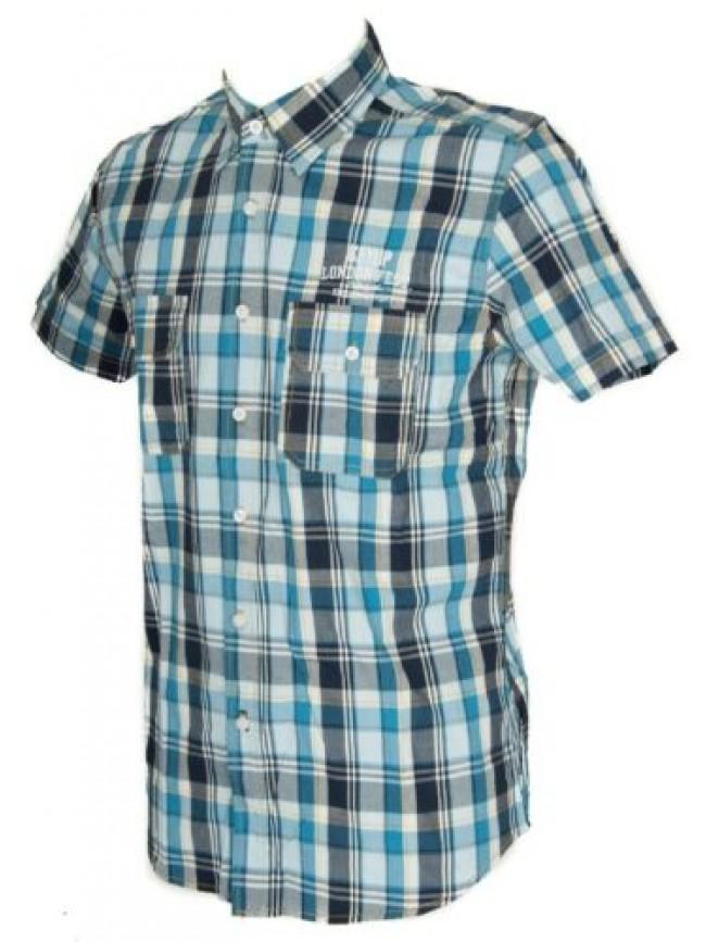 Camicia uomo manica corta cotone KEY-UP articolo 20C51