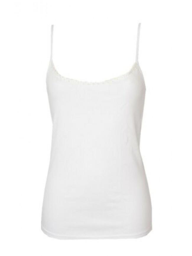 Camiciola canottiera donna spalla stretta laccio top 100% bio organic cotton RAG