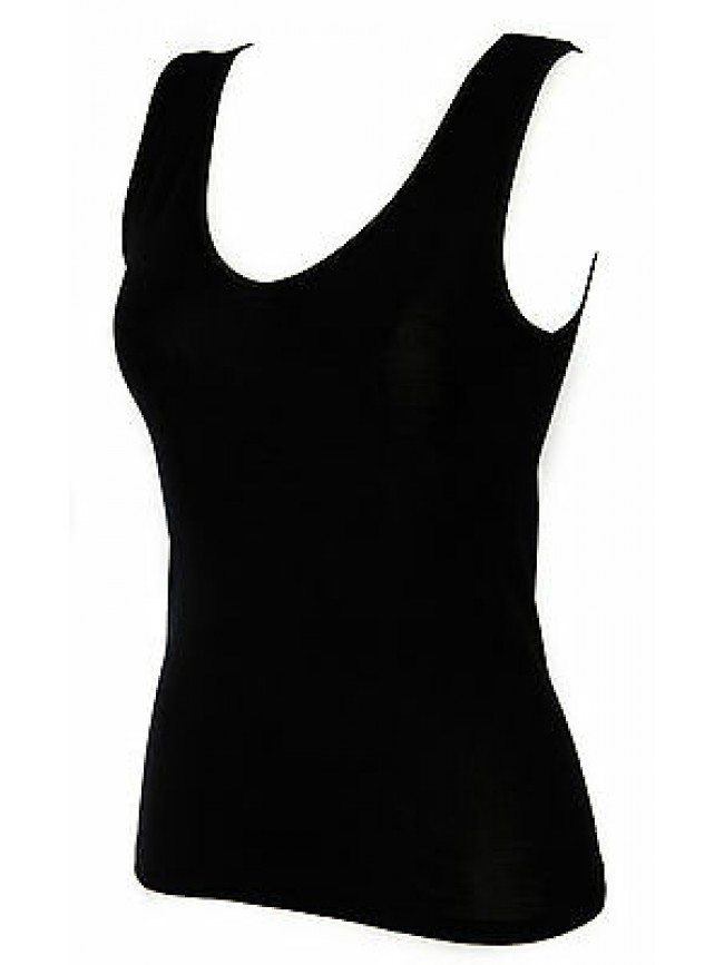 Camiciola canottiera lana donna RAGNO a. 077002 taglia 6/XL col. 020 NERO BLACK