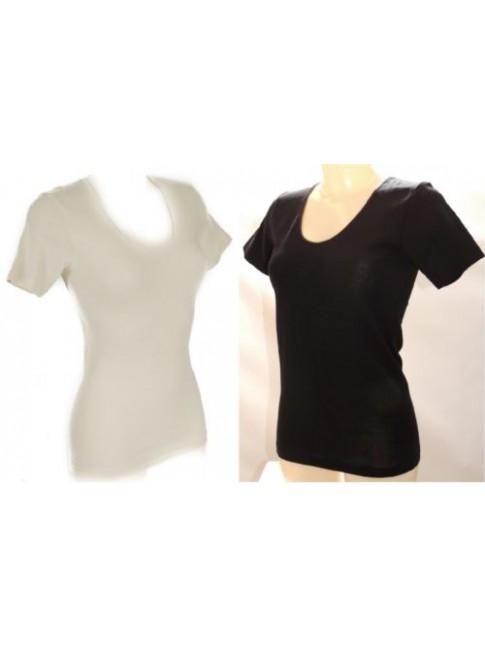 Camiciola donna manica corta 85% lana merino e 15% seta RAGNO articolo 074027