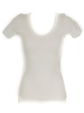 Camiciola donna manica corta sintonia lana e cotone RAGNO articolo 072457