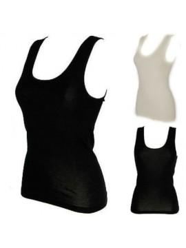 Camiciola donna spalla larga 85% lana marino e 15% seta RAGNO articolo 074022