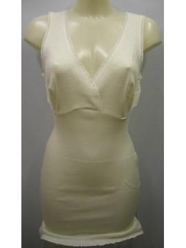 Camiciola donna spalla larga pura lana RAGNO art.0041L4 t.5/L C.002 BIANCO LANA
