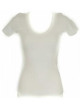 Camiciola mezza manica lana&cot donna RAGNO 072457 taglia 5/L 002 BIANCO