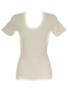 Camiciola mezza manica lana&seta donna RAGNO 074027 taglia 5/L colore 002 BIANCO