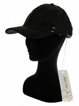 Cappello berretto baseball donna hat KEY-UP a. 568BA taglia UNICA col. 0002 NERO