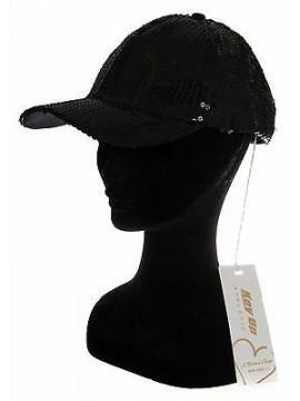 Cappello berretto baseball donna hat KEY-UP a. 568BA taglia UNICA col. 0002 NERO
