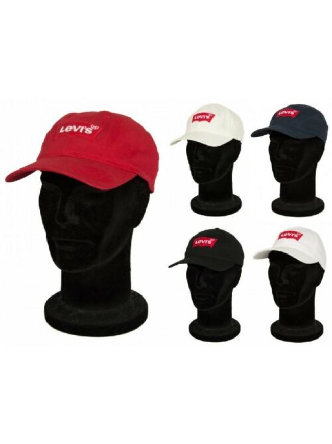 Cappello berretto con visiera uomo regolabile cotone LEVI'S articolo 228054