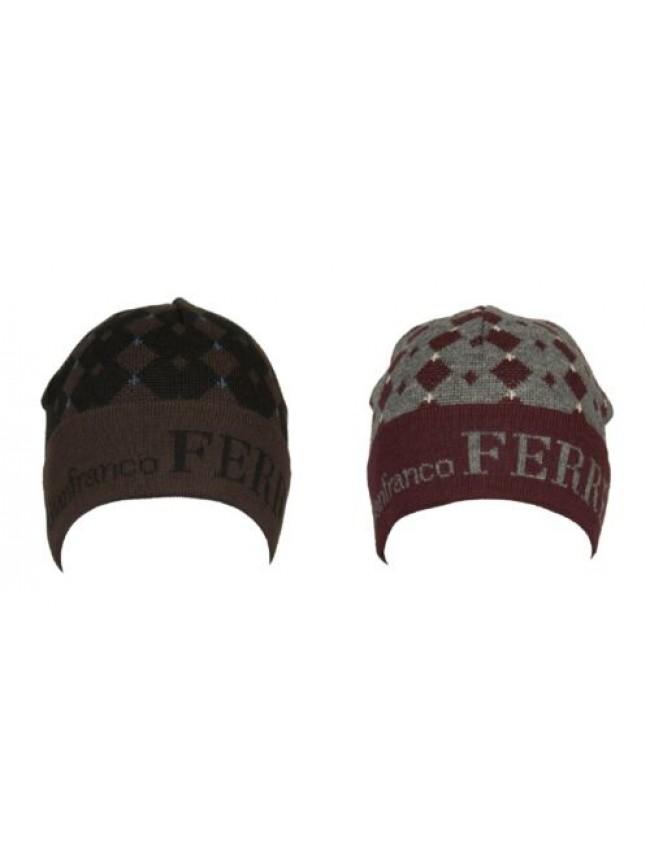 Cappello berretto cuffia con risvolto GF GIANFRANCO FERRE' articolo 01221 Made i
