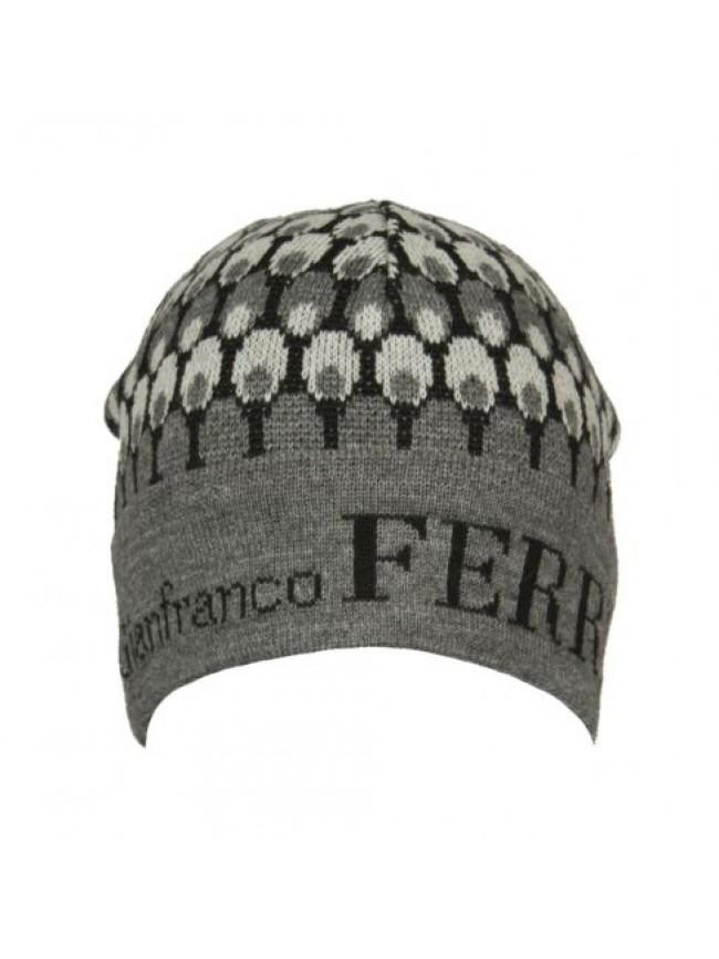 Cappello berretto cuffia con risvolto GF GIANFRANCO FERRE' articolo 01224 Made i