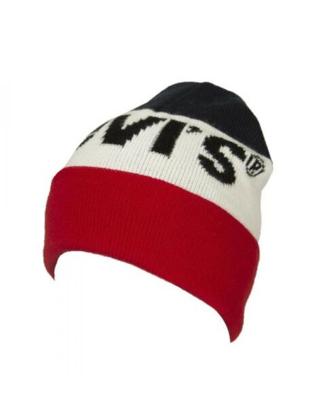 Cappello berretto cuffia con risvolto LEVI'S articolo 228857 CAPPELLINO LOGO MAD