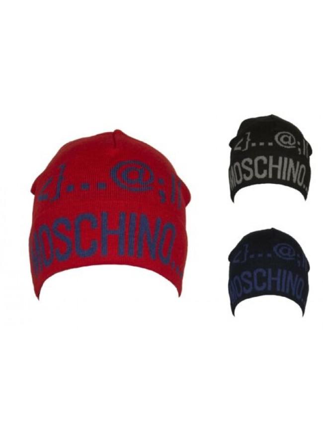 Cappello berretto cuffia con risvolto MOSCHINO articolo 01239 Made in Italy