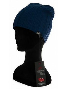 Cappello berretto cuffia donna hat KEY-UP art. 584CF taglia UNICA col. 1216 BLU