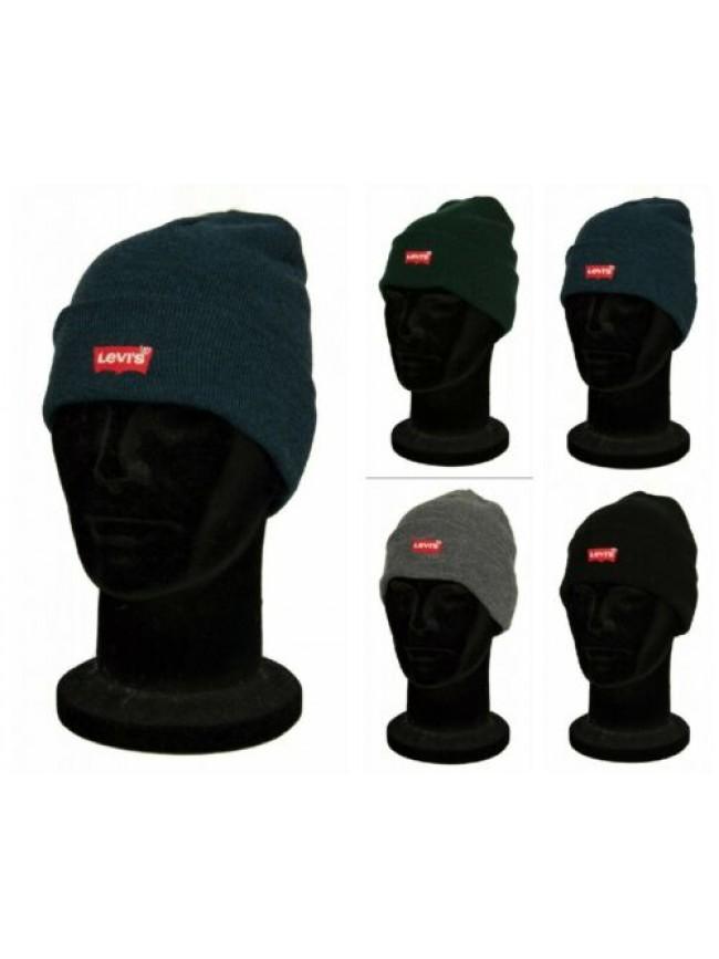 Cappello berretto cuffia uomo cappellino con risvolto LEVI'S articolo 230791 red