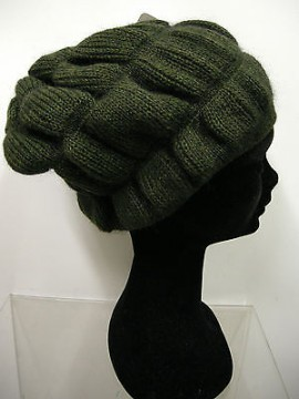 Cappello berretto donna hat woman ENRICO COVERI a.COCAPP col.muschio verde Italy