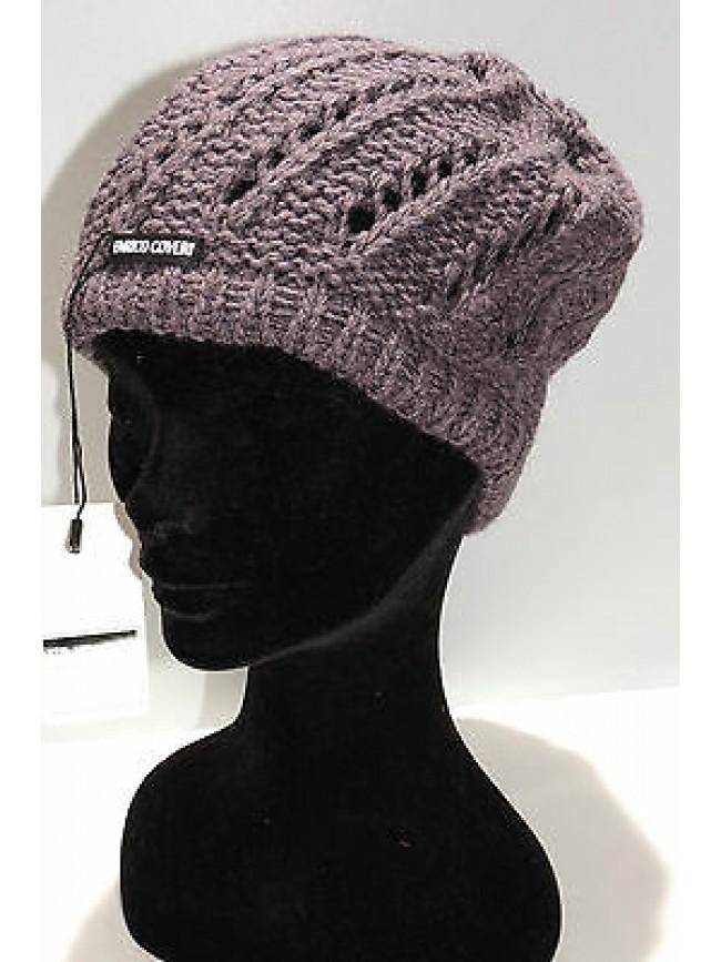 Cappello berretto donna hat woman ENRICO COVERI art.CACO018 col.prugna Italy