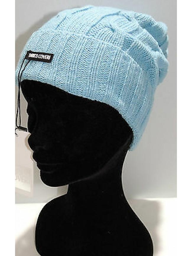 Cappello berretto donna hat woman ENRICO COVERI art.CACO025 col.celeste Italy