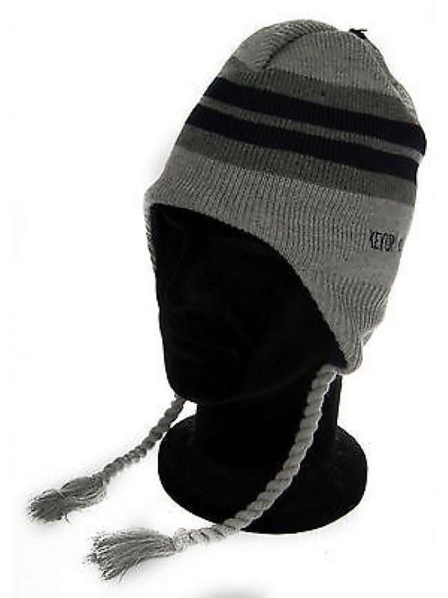 Cappello berretto paraorecchie hat KEY-UP a. 262CU taglia UNICA col. 1300 GRIGIO