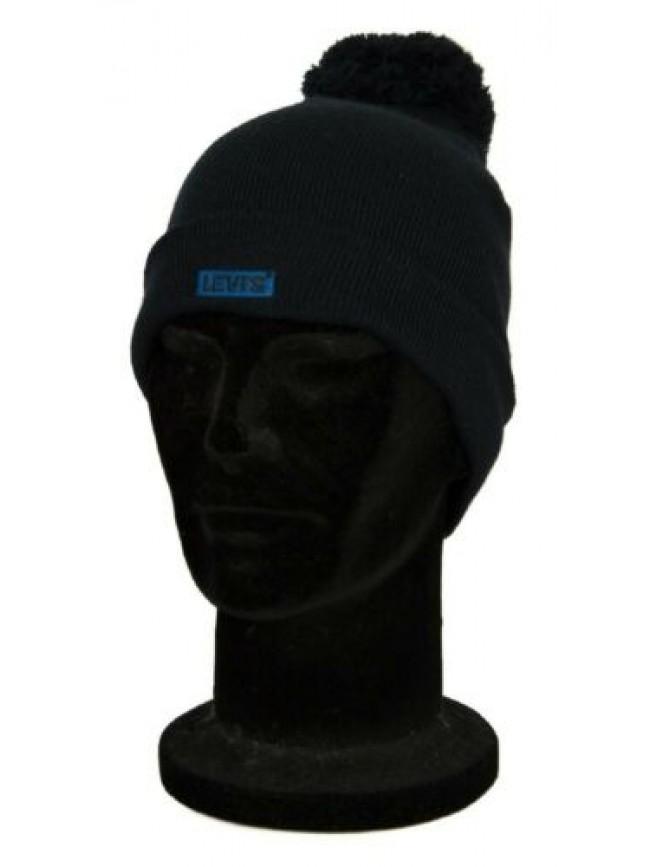 Cappello berretto unisex cappellino con risvolto e pon pon LEVI'S articolo 23077