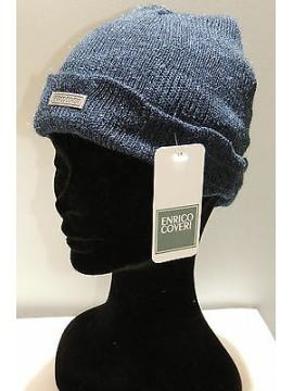 Cappello berretto unisex hat ENRICO COVERI a.ECC004 col.jeans Italy