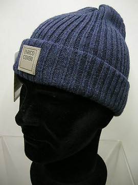 Cappello berretto unisex hat ENRICO COVERI art.MC1041 col.34 navy Italy
