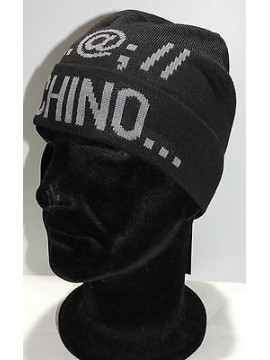 Cappello cuffia hat MOSCHINO art.01239 T.unica col.002 nero Italy