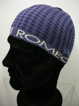 Cappello cuffia unisex hat ROMEO GIGLI art.MC1405G col.4 grigio/blu Italy