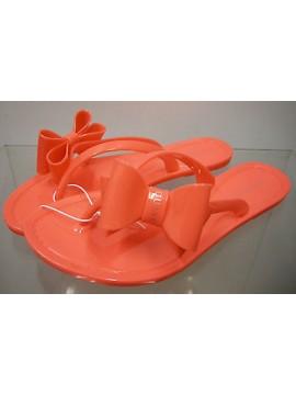 Ciabatta fiocco donna gomma slippers woman art.FN7D63 T.M 37 / 38 col.U659 coral